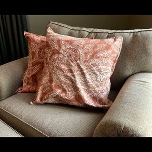 (5) Paisley Pottery Barn Pillow Covers